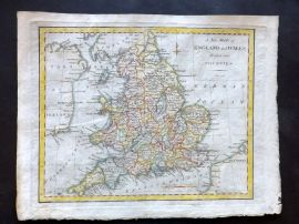 Cary 1801 Hand Col Map. A New Map of England and Wales